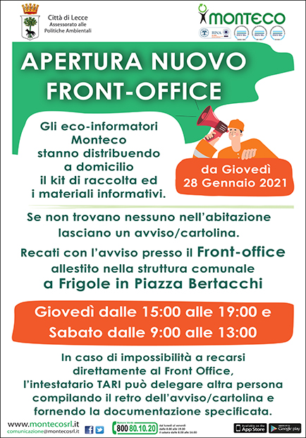 Apertura Front Office Frigole