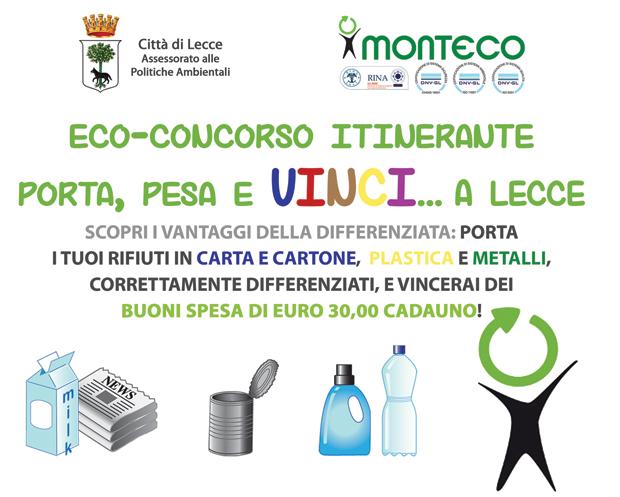 Porta, Pesa e Vinci, l'eco-concorso che ti premia con la differenziata